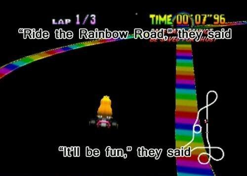 Kids Shouldn't Be Allowed To Get Their License Until They've Beat Rainbow Road in Mario Kart